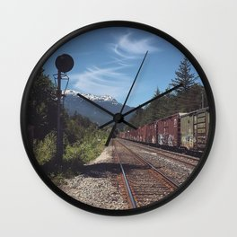 Mountain Railway Wall Clock