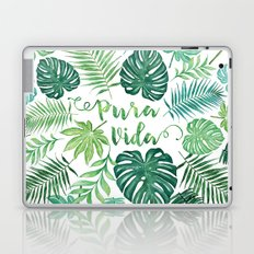 Tropical Pura Vida Palm Leaves and Monstera Watercolor Laptop & iPad Skin