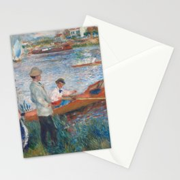 Oarsmen at Chatou Painting by Auguste Renoir Stationery Cards