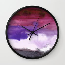 Melting Sunset #3, Joyful Violet Wall Clock