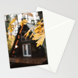 A-Frame Cabin in the Woods Stationery Cards