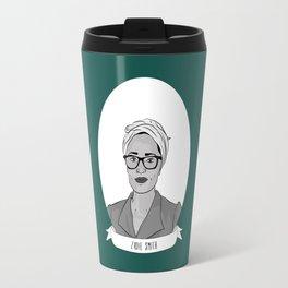 Zadie Smith Illustrated Portrait Travel Mug