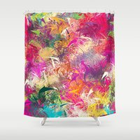 random Shower Curtains featuring Random Paint by Danny Ivan