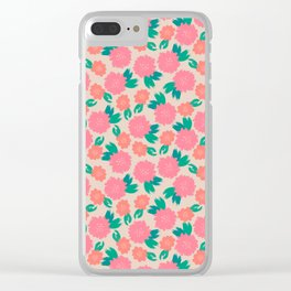 Floral Brushes pattern Clear iPhone Case