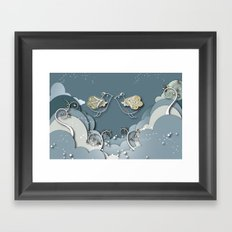 Blue kiss in spring Framed Art Print