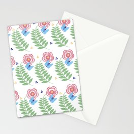tall flowers Stationery Cards