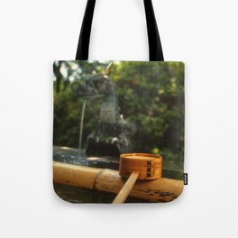 Japanese Temple Washing Station Tote Bag