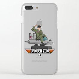 Danger Zone Clear iPhone Case