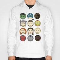 avenger Hoodies featuring Avenger Emojis :) by Jozi