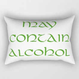 May Contain Alcohol Rectangular Pillow