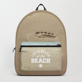 Better At The Beach Quote Backpack