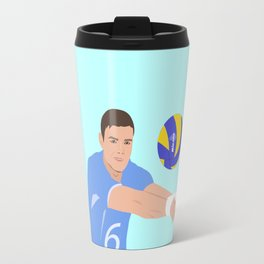Volleyball cartoon Travel Mug