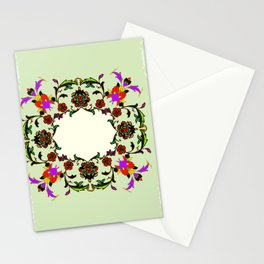 light green medalion Stationery Cards