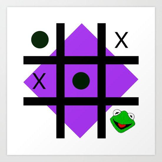 Kermit der frosch Art Print
