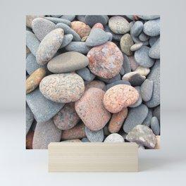 Watercolor Rock, Pebbles 05, Cape Breton, Nova Scotia, Canada, No Worries Here Mini Art Print