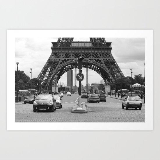 Paris transport Art Print