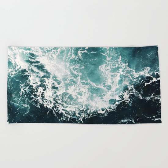 Sea waves II Beach Towel