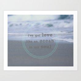 Love Like An Ocean Art Print