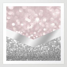 Pink Sparkle Art Print