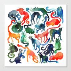 Cats United Canvas Print