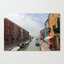 Burano in Venezia Canvas Print