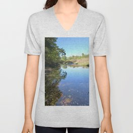 Where Canoes and Raccoons Go Series, No. 29 Unisex V-Neck