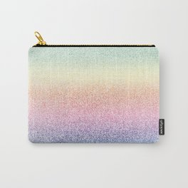 Colorful Rainbow Watercolor Trendy Glitter Mermaid Pastel Iridescent Carry-All Pouch