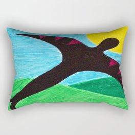 The Birdman On A Solo Flight Rectangular Pillow