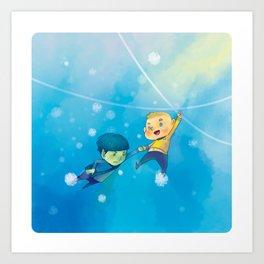 Spirk winter adventure Art Print