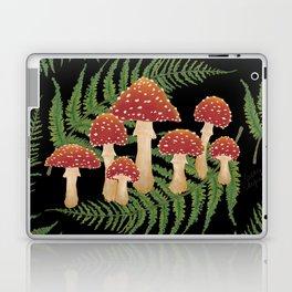 Magic Mushroom Fern Forest Dark  Laptop & iPad Skin