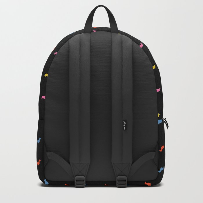 Colored Dogs on Black Backpack