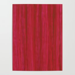 Strawberry Colored Vertical Stripes Poster