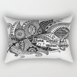 Zentangle Feather Rectangular Pillow