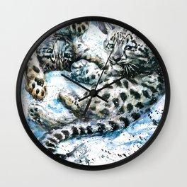 Snow leopards Nice Chap Wall Clock
