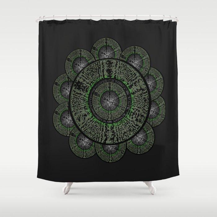 The Grey Flower Shower Curtain