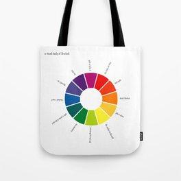 A Visual Study of Sherlock Tote Bag