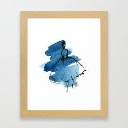 Retro Chic Runway Dress 5 Framed Art Print