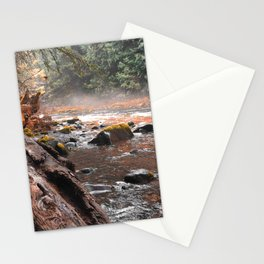 Peaceful Autumn Brook Stationery Cards