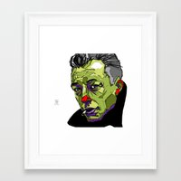 camus Framed Art Prints featuring A. Camus by philip painter