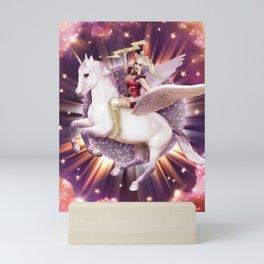 Andora: Drag Queen Riding a Unicorn Mini Art Print