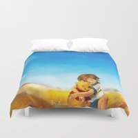 alicexz Duvet Covers featuring Everything is Right by Alice X. Zhang