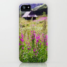 Fireweed In The Mountains iPhone Case