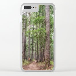 Forest Trail, Pacific Northwest, Washington State Clear iPhone Case