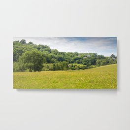 Hillside Cottages Metal Print