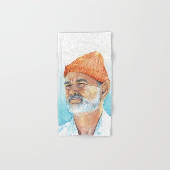 Bill Murray as Steve Zissou Portrait Art Hand & Bath Towel