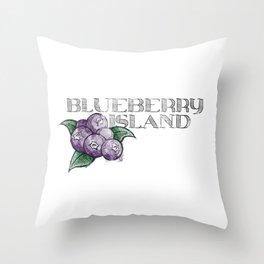 Blueberry Island Throw Pillow