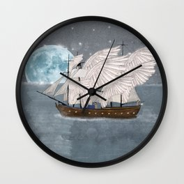 the wing ship Wall Clock