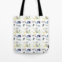 Super Happy Lucky Pattern Tote Bag