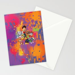 Paw Patrol group digital painting Stationery Cards