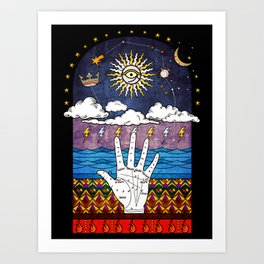 Esoteric prayer Art Print